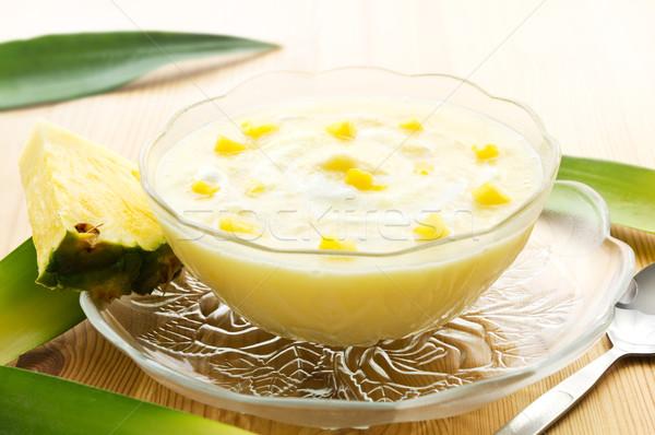 Pineapple yogurt dessert Stock photo © IngaNielsen