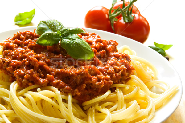 Spaghetti bolognese Stock photo © IngaNielsen