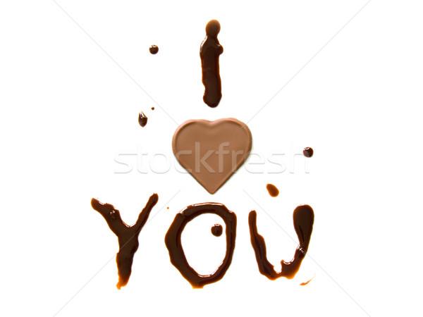 Chocolate love Stock photo © IngaNielsen
