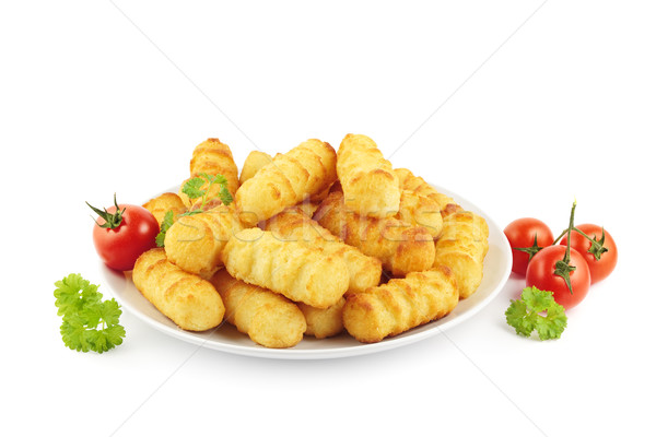Croquettes on plate Stock photo © IngaNielsen
