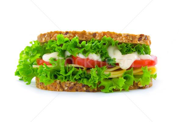 チーズ サンドイッチ 側面図 ライ麦 パン 新鮮な ストックフォト © IngaNielsen