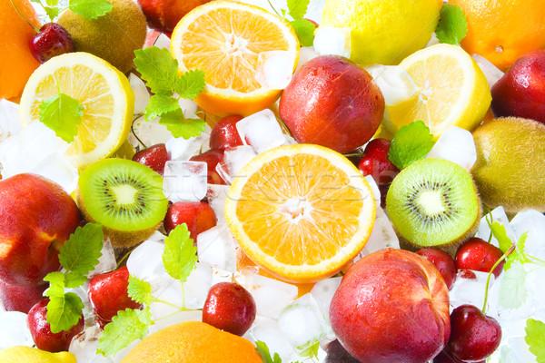 Fruits on ice Stock photo © IngaNielsen