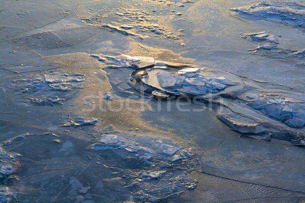 Frozen water surface Stock photo © IngaNielsen
