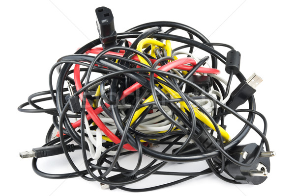 Cables knot Stock photo © IngaNielsen