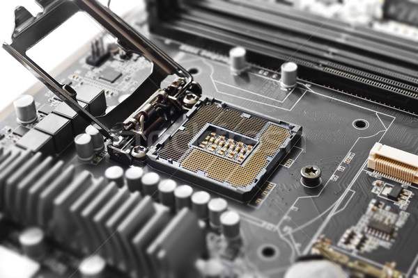 CPU socket on motherboard Stock photo © IngaNielsen