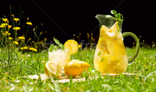Lemonade in meadow Stock photo © IngaNielsen