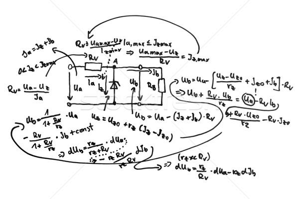circuit diagram and equations stock photo inga nielsen rh stockfresh com Hand Drawn Diagram of DNA Diagram of Science Principal