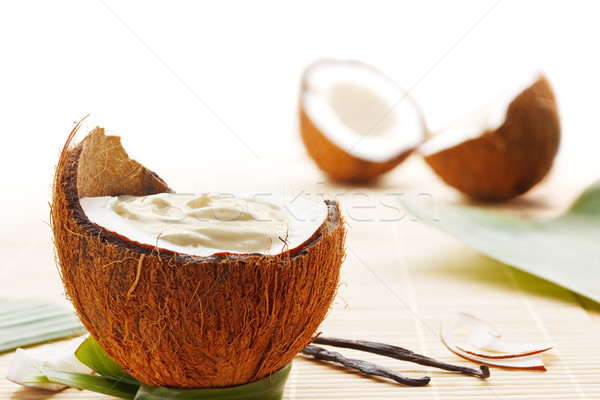 Coconut mousse Stock photo © IngaNielsen