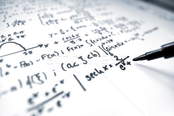 математика макроса изображение карандашом Дать Math Сток-фото © IngaNielsen