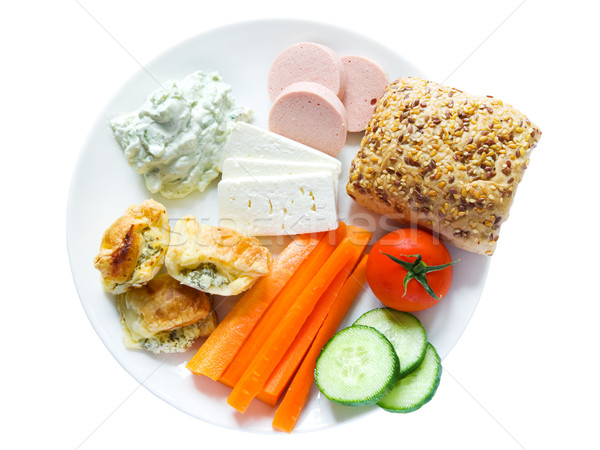 Plate with snacks Stock photo © IngaNielsen