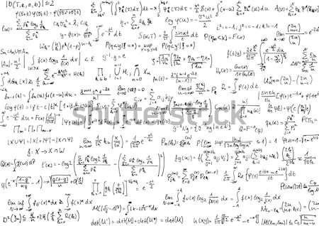 数学 シート 紙 黒 白 ストックフォト © IngaNielsen