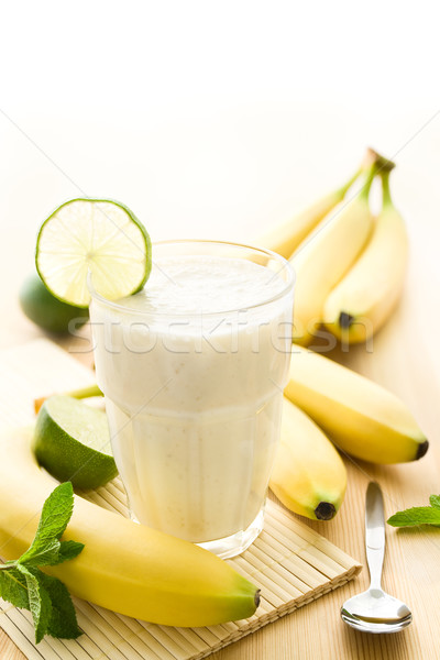 Banana milkshake Stock photo © IngaNielsen
