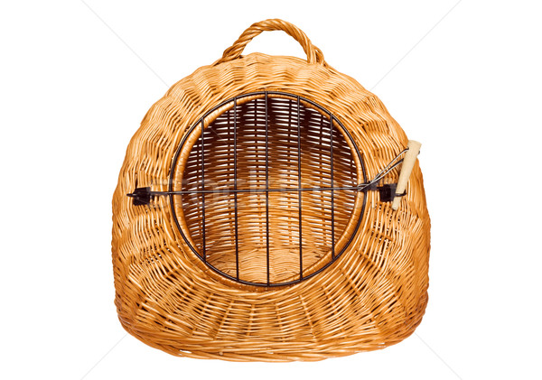 Pet carrier basket Stock photo © IngaNielsen
