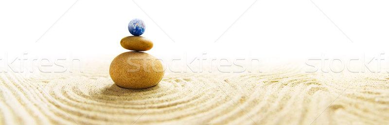 Мир баланса каменные zen саду Сток-фото © IngaNielsen