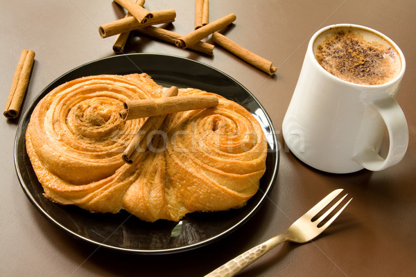 Stock photo: Cinnamon bun
