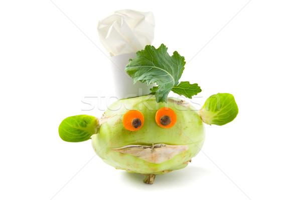 Légumes créature humoristique chefs chapeau carotte Photo stock © IngaNielsen