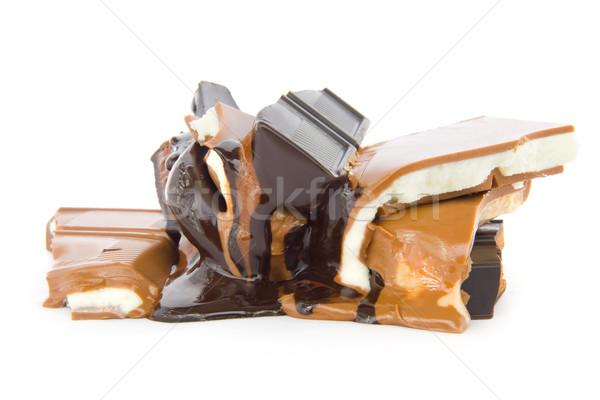 Molten chocolate Stock photo © IngaNielsen