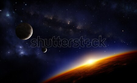 Planets and stars Stock photo © IngaNielsen