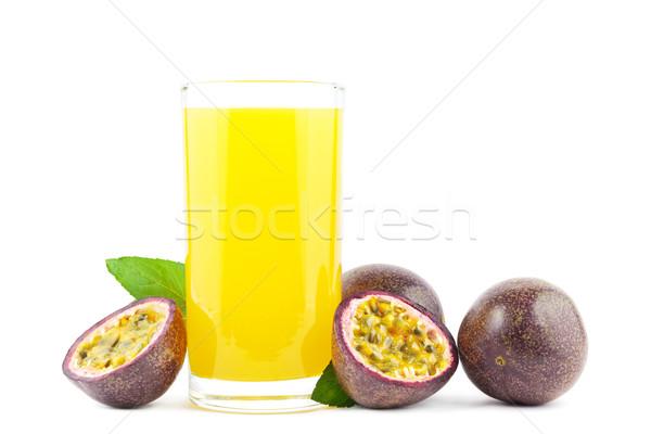 Passion fruit juice Stock photo © IngaNielsen