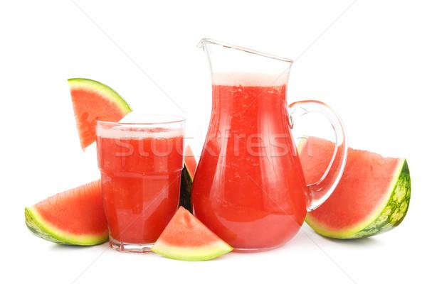 Watermeloen smoothie vers gezonde witte vruchten Stockfoto © IngaNielsen