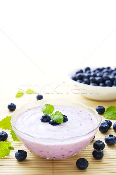Blueberry yogurt Stock photo © IngaNielsen
