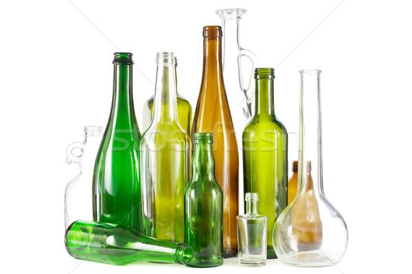 Glass waste bottles Stock photo © IngaNielsen