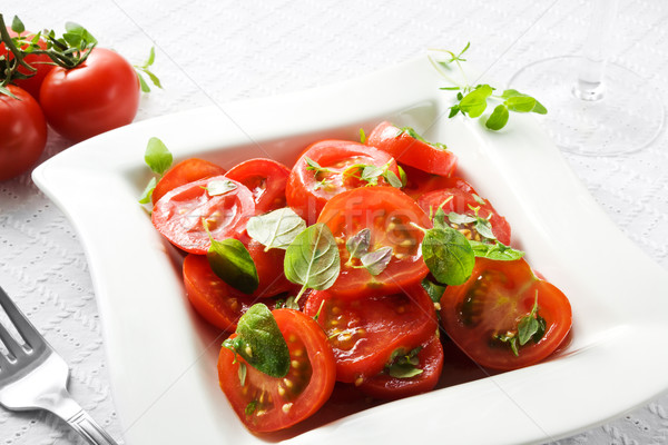 Tomato salad Stock photo © IngaNielsen
