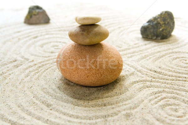 Rock jardin faible serein zen Photo stock © IngaNielsen