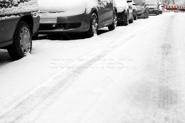 Snow and cars Stock photo © IngaNielsen