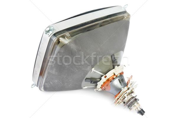 管 古い コンピュータモニター 白 画面 孤立した ストックフォト © IngaNielsen