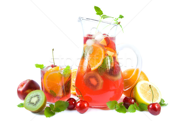 Punch with fruits Stock photo © IngaNielsen