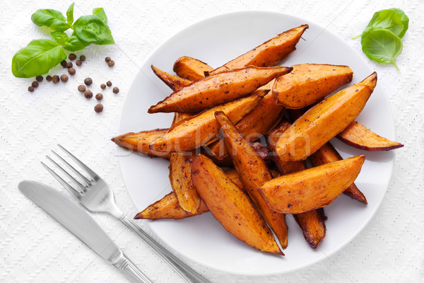 Sweet potato wedges Stock photo © IngaNielsen