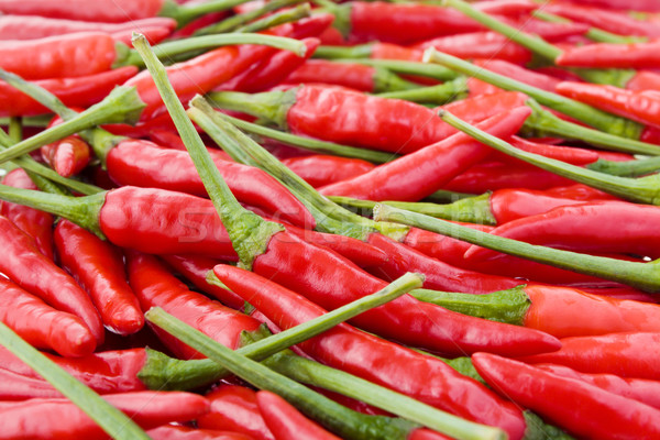Fresh chili peppers Stock photo © IngaNielsen