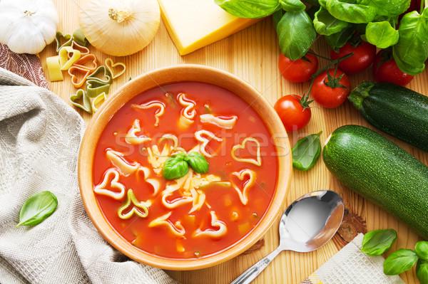 Pasta soup Stock photo © IngaNielsen