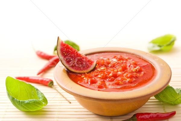 Chili sauce Stock photo © IngaNielsen