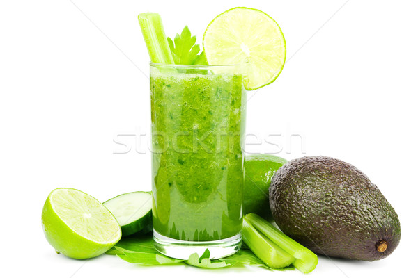 Stock photo: Green vegetable smoothie