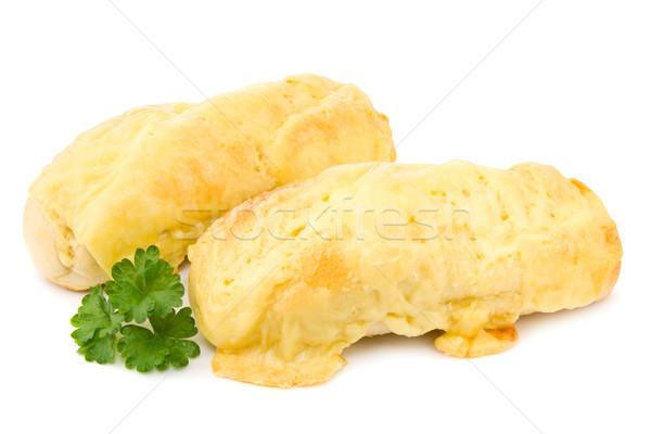 Kaas baguettes twee gebakken brood witte Stockfoto © IngaNielsen