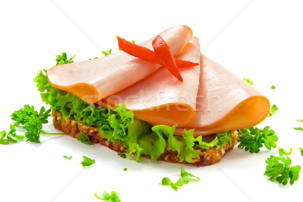 Kenyér Törökország szelet egészséges rozs szeletek Stock fotó © IngaNielsen