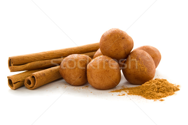 Stockfoto: Marsepein · aardappel · kaneel · poeder
