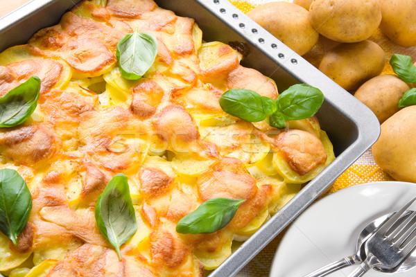 Potatoes au gratin Stock photo © IngaNielsen