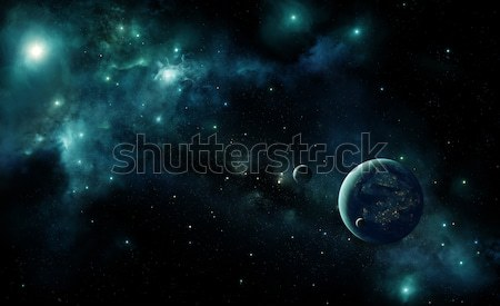 Alien planet in space Stock photo © IngaNielsen