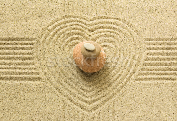 Zen heart Stock photo © IngaNielsen