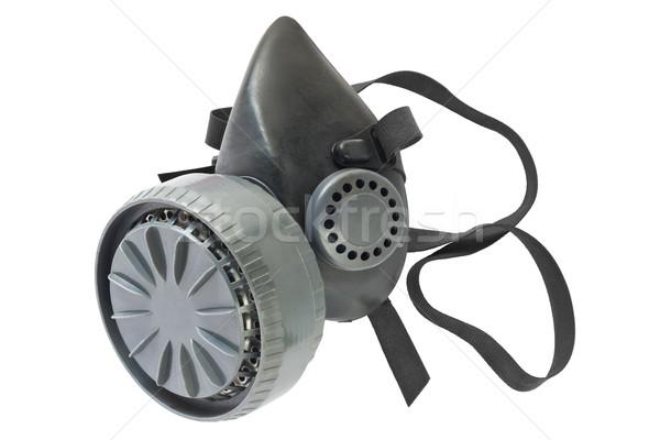 Gaz maskesi yalıtılmış kullanılmış beyaz güvenlik maske Stok fotoğraf © IngaNielsen