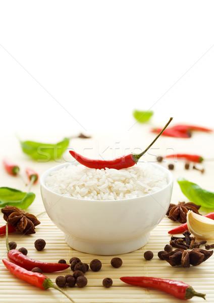 риса специи травы свежие Chili Сток-фото © IngaNielsen