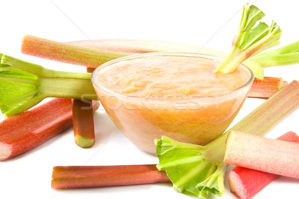 Rhubarb compote Stock photo © IngaNielsen