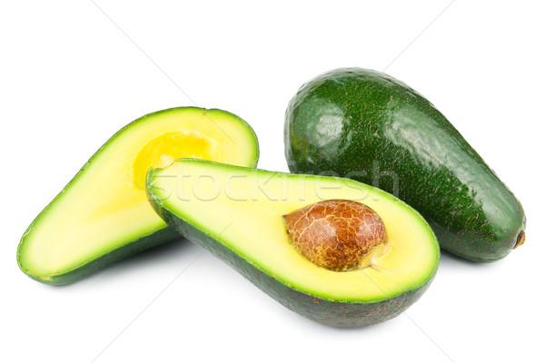 Atravessar comida fruto verde semente isolado Foto stock © IngaNielsen