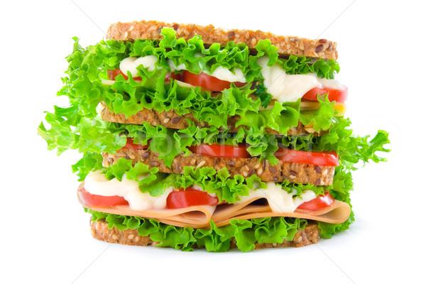 Big sandwich Stock photo © IngaNielsen