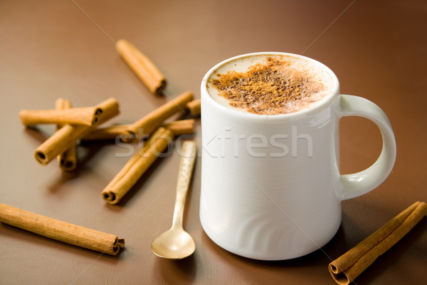 Cinnamon coffee Stock photo © IngaNielsen