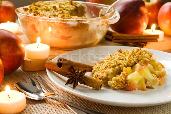 Maçã fresco quente comida vela velas Foto stock © IngaNielsen