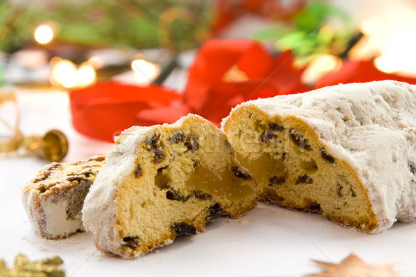 Christmas decoratie voedsel dessert zoete Stockfoto © IngaNielsen